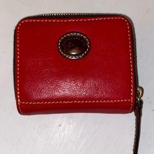 Dooney & Bourke red leather wallet EUC super cute